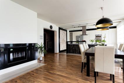 Urban apartment - contemporary interior in black and white